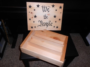 We the People ammo airbrushed ammo storage box